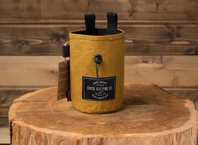 Chalk Bag Waxed Canvas Mustard