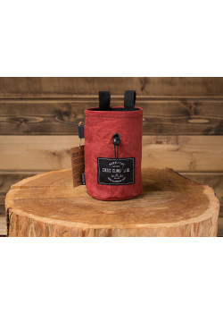 Chalk Bag Waxed Canvas Oxblood