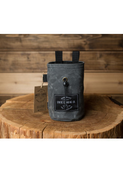 Chalk Bag Waxed Canvas Gunpowder